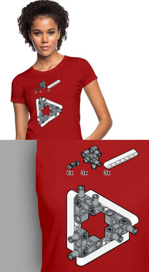 support antons mindstorms with escher t-shirt