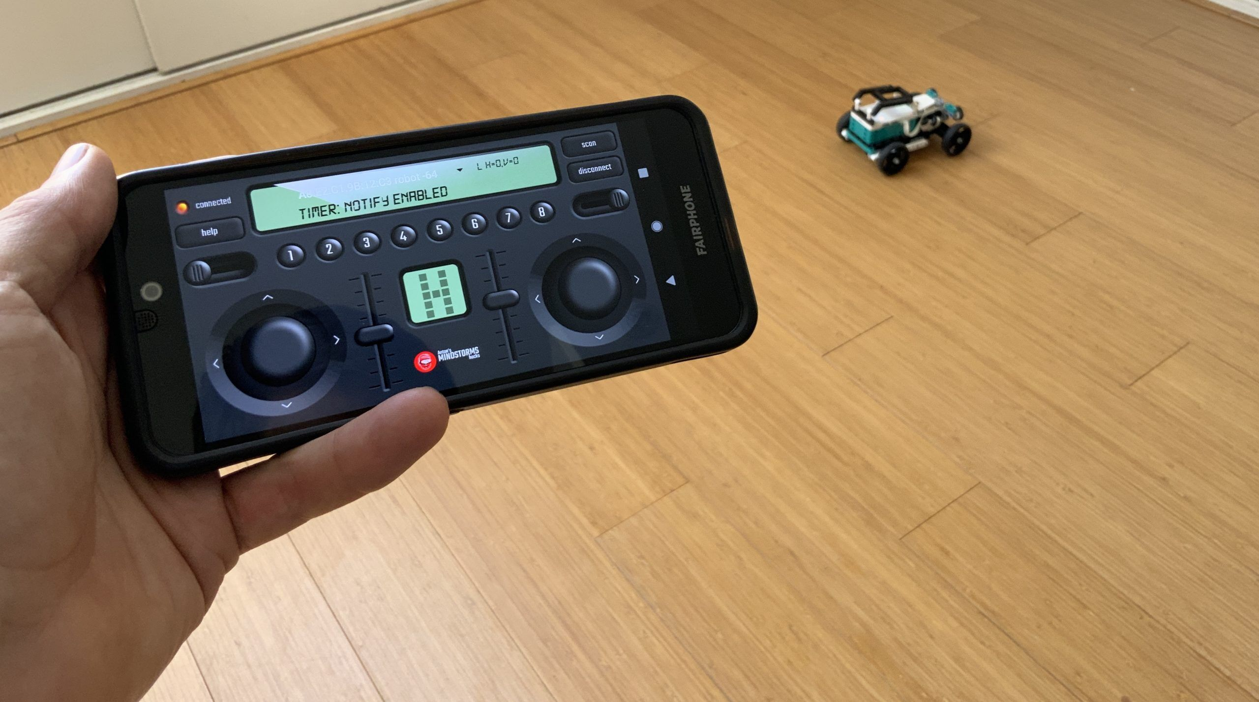 Python BLE Remote control for MINDSTORMS